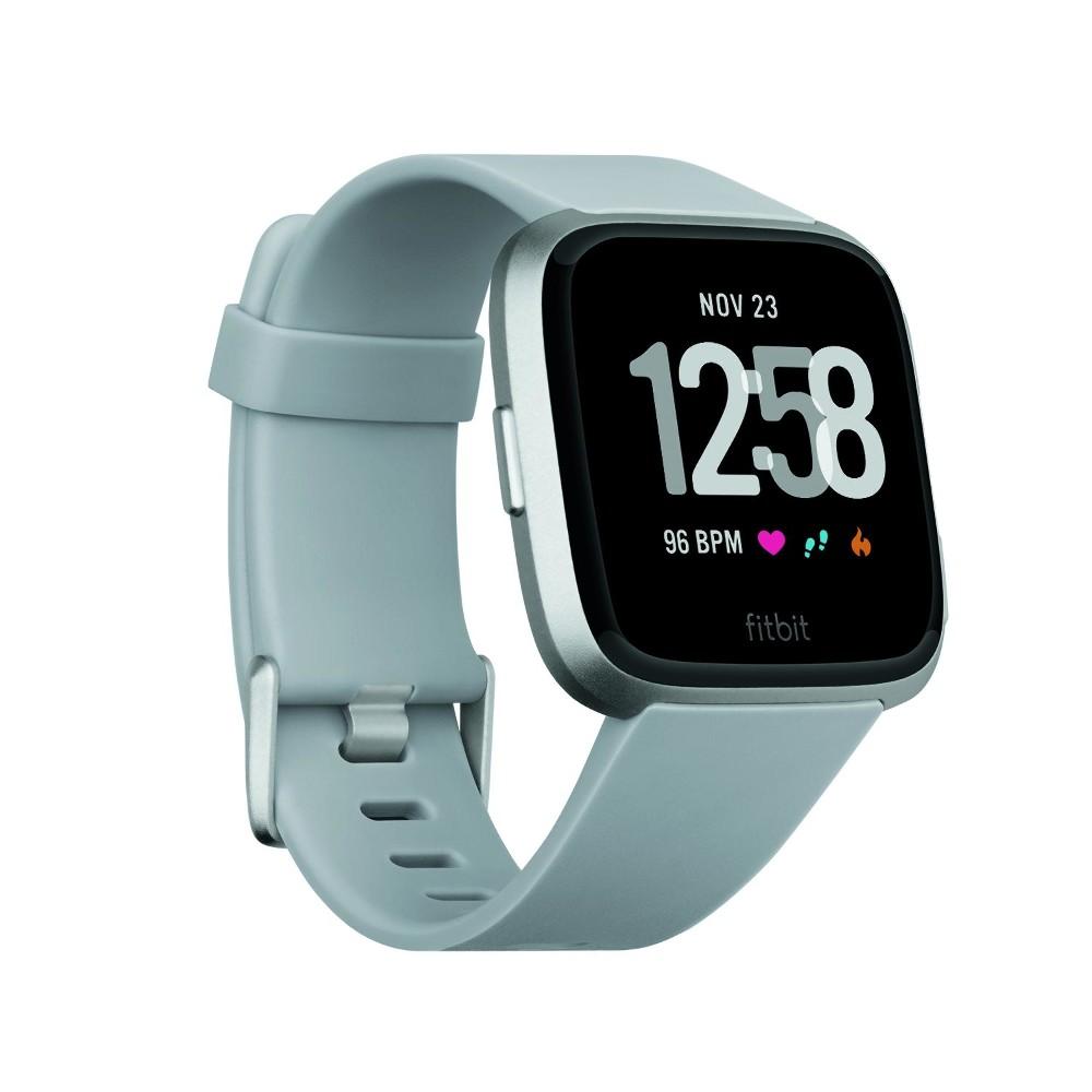4+ Tage Akkulaufzeit /& Wasserabweisend bis 50 m Tiefe Grau Gesundheits /& Fitness Smartwatch mit Herzfrequenzmessung Fitbit Versa